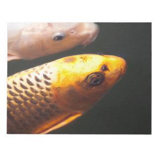 Golden Koi Fish Notepad