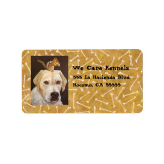 golden lab/chipmunk address labels