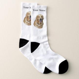 Golden labrador dog socks