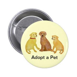 Golden Labrador Retrievers Button