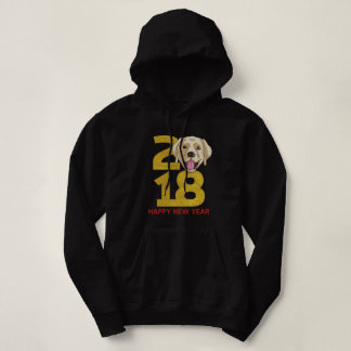 Golden Labrador Year of the Dog 2018 New Year Hoodie