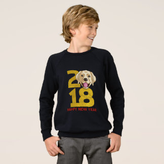 Golden Labrador Year of the Dog 2018 New Year Sweatshirt