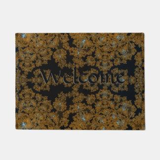 Golden Lace on Brown Doormat