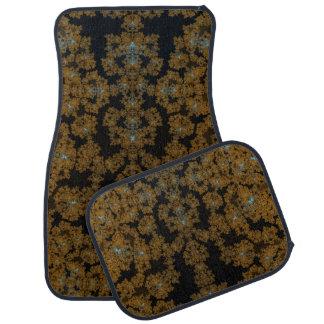 Golden Lace on Brown Floor Mat