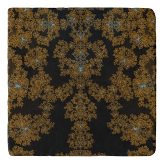 Golden Lace on Brown Trivet