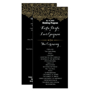 Golden Lace Wedding Program