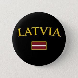 Golden Latvia 2 Inch Round Button