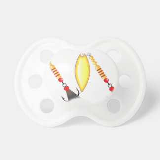 Golden leaf and oval shape design spinner fishing pacifier