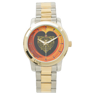 GOLDEN LEAF,  black orange yellow Watch