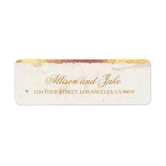 Golden Leaves Address Labels