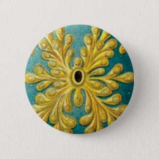 golden leaves cover 2 inch round button
