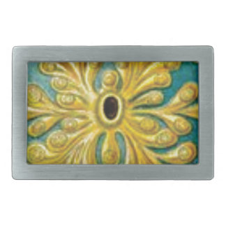 golden leaves cover belt buckle