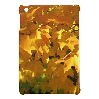 Golden leaves cover for the iPad mini