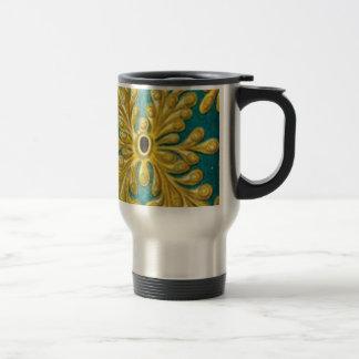 golden leaves cover travel mug