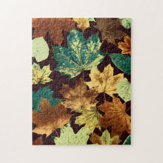 Golden Leaves Jigsaw Puzzle