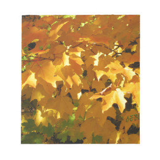 Golden leaves notepad