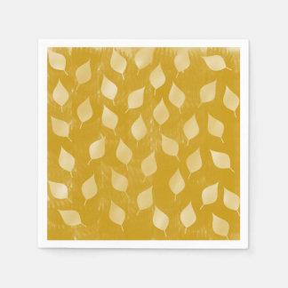 Golden Leaves Paper Napkins