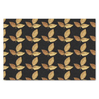 Golden Leaves Tissue Paper