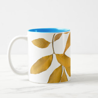 Golden leaves Two-Tone coffee mug