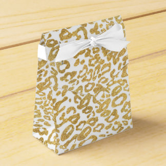 golden leopard skin favor box