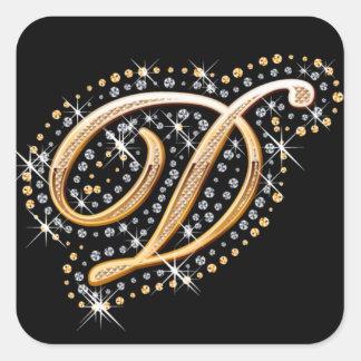 Golden Letter D - Sticker