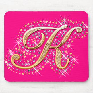 Golden Letter K - Mousepad