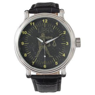 Golden Libra Wrist Watch