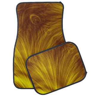 Golden Light Fractal Car and Truck Mats Car Floor Carpet