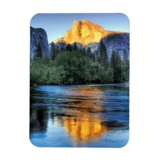 Golden Light on Half Dome Rectangular Photo Magnet