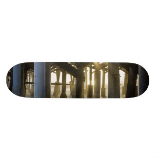 Golden Light Shines Through Custom Skateboard