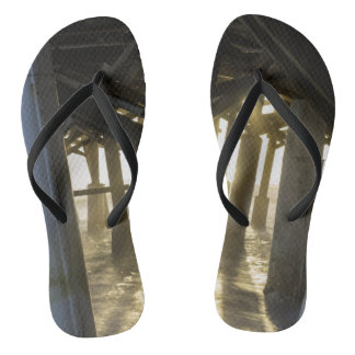 Golden Light Shines Through Flip Flops
