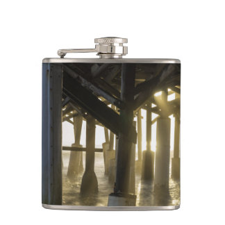 Golden Light Shines Through Hip Flask