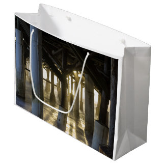 Golden Light Shines Through Large Gift Bag
