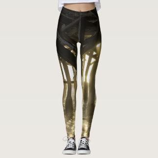 Golden Light Shines Through Leggings