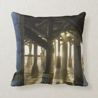 Golden Light Shines Through Throw Pillow