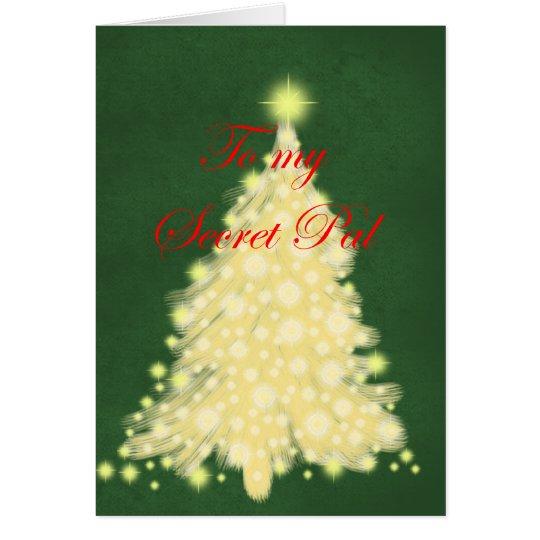 Golden Lighted tree Card