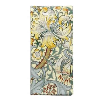 Golden Lilies napkin