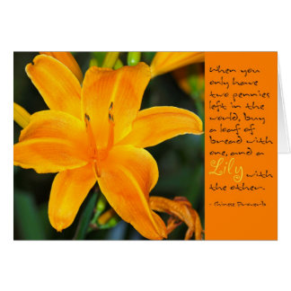 Golden Lily Card