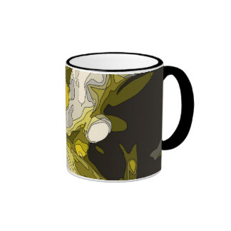Golden Lily Pond Flower Painting Coffee Mugs