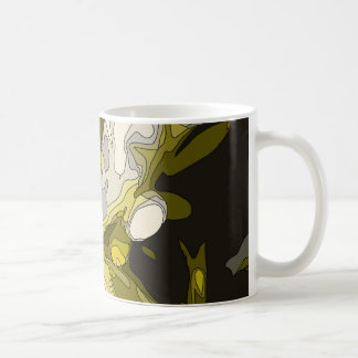 Golden Lily Pond Flower Painting Mugs