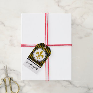 Golden Lily + your background & text Gift Tags