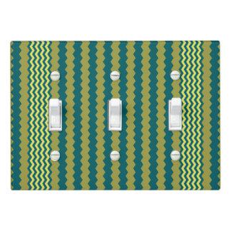 Golden Lime Chevron Design - Light Switch Cover