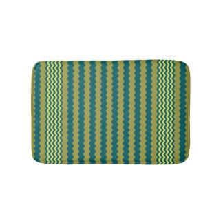 Golden Lime & Shaded Spruce Chevron Design Bath Mat