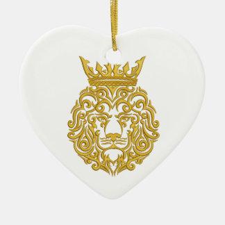 golden lion in the crown ceramic ornament