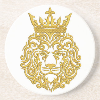 golden lion in the crown coaster