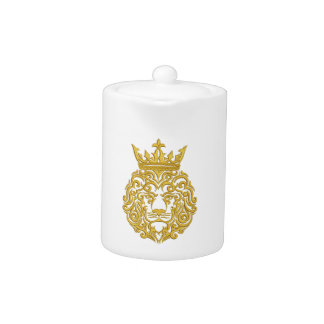 golden lion in the crown - imitation of embroidery