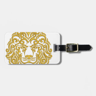 golden lion in the crown - imitation of embroidery luggage tag