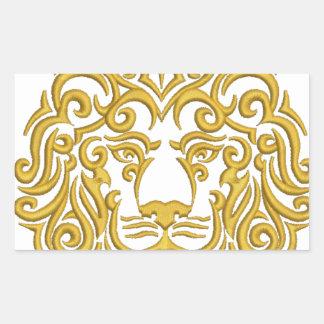 golden lion in the crown sticker