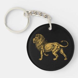 Golden Lion Keychain