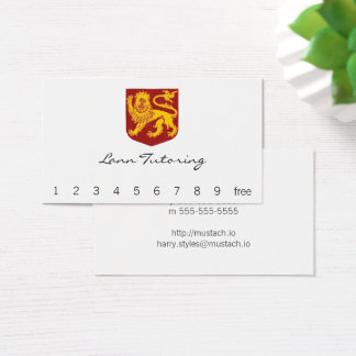 Golden Lion on Red Shield Heraldry Business Card